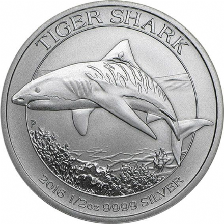 2016 Silver 1/2 oz Tiger Shark from the Perth Mint